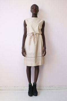 Vintage broderie anglaise dress