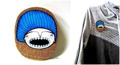 Handpainted wooden brooch made by poisjardin. www.facebook.com/poisjardin Handmade Accessories, Brooch, Hand Painted, Facebook, Art, Art Background, Brooches, Kunst, Performing Arts