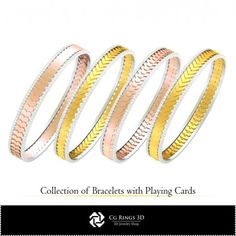 CAD Collection of Bracelets with Playing Cards Cad Services, 3d Cad Models, Jewelry Collection, Playing Cards, Buy And Sell, Collections, Bracelets, Stuff To Buy, Playing Card Games