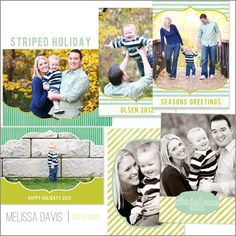 NEW 2012 Striped Holiday template set from Melissa Davis Designs!