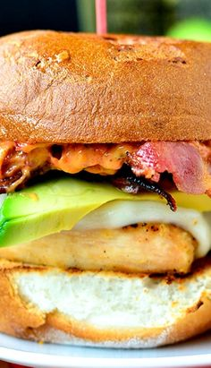 Grilled Chicken, Bacon, and Avocado Melts with Sun Dried Tomato-Basil Mayo