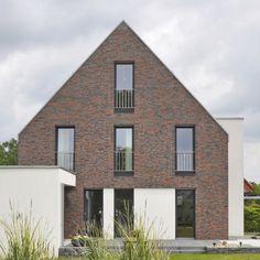 Einfamilienhaus neubau satteldach klinker  Frontansicht | Haus | Pinterest | Architektur und Klinker