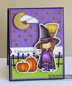 Witch Way Is the Candy? stamp set and Die-namics, Pierced Fishtail Flags STAX Die-namics, Spooky Scene Die-namics, Starry Night Stencil - Melody Rupple #mftstamps