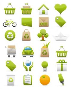 18 of the Best Free and Premium Green Environment Vector Icon Sets