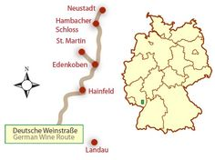 Map of the Pfalz or