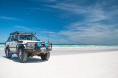 80 Series Land Cruiser On the Beach