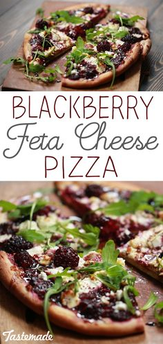 If you're feeling fancy, elevate your sweet and savory pizza with a spiced berry reduction, creamy ricotta and feta.