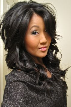 long hair cuts for women My Hairstyle, Curled Hairstyles, Straight Hairstyles, Layered Hairstyles, Short Layered Haircuts, Hairdos, Pretty Hairstyles, Corte Shaggy, Curling Straight Hair
