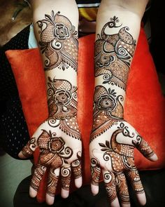 Peacock Mehndi Designs - 50 Beautiful Peacock Henna Designs