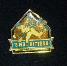 LA Dodgers Baseball 8 No Hitters Pin