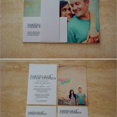 I like these photo invites! Simple but cute