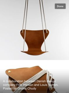 leather Hanging chair.  Louis Vuitton