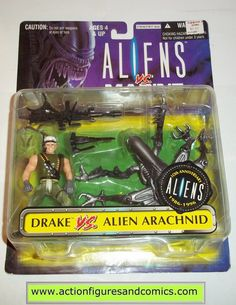 Kenner ALIENS vs PREDATOR action figures for sale to buy 1996 kaybee toys exclusive, DRAKE & SPIDER ALIEN ARACHNID 10th anniversary 2 pack New - Still Factory Sealed in the original package Condition: