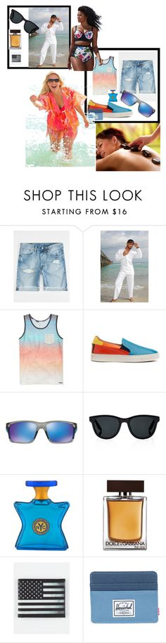"""Bez naslova #31"" by fatima-bojic ❤ liked on Polyvore featuring Levi's, Univibe, Paul Smith, Oakley, Barton Perreira, Bond No. 9, Dolce&Gabbana, Buckle-Down and Herschel Supply Co."