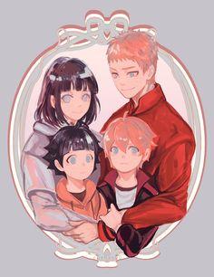 Naruto, Hinata, Boruto e Himawari (Família Uzumaki) || Naruto