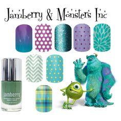 """Jamberry & Monsters Inc""  Shop now http://christenmurray.jamberrynails.net"