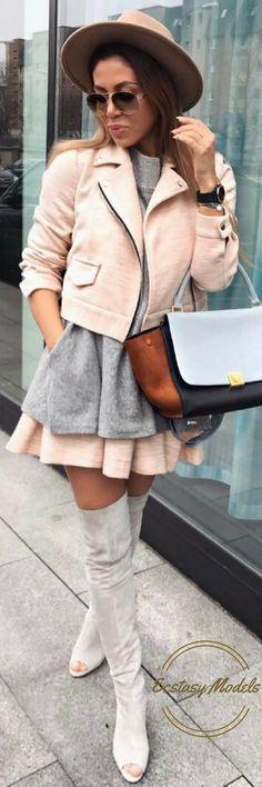 Pink x Grey // Fashion Look by Kasia