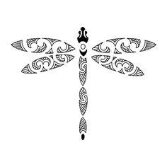Maori dragonfly tattoo