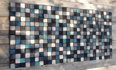 Wandkunst - Holz - aufgearbeiteten Holz Kunst - Wandmontage