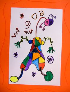 Panther's Palette: 1st Grade  Joan Miro figures