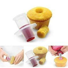Cupcake Cake Corer Pastry Decorating Divider Filler Plunger Cutter Kitchen Tool #Unbranded
