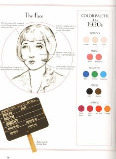 Vintage Hairstyles Makeup Palette - Classic Beauty - The History of Make-up 1920s Makeup, Retro Makeup, Vintage Makeup, Vintage Beauty, Downton Abbey, Louise Brooks, Makeup Tips, Beauty Makeup, Makeup Ideas