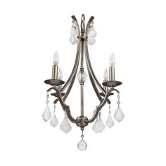 """Park Harbor PHHL6324 16"""" Wide 4 Light Single Tier Shaded Style (15.235 RUB) ❤ liked on Polyvore featuring home, lighting, ceiling lights, chandeliers, gilded silver, indoor lighting, four light, mini chandelier lighting, chain chandelier and harbour lights"""