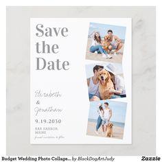 Postcard Wedding Invitation, Budget Wedding Invitations, Photo Invitations, Save The Date Photos, Save The Date Cards, Budget Wedding Photos, Simple Photo, Dog Wedding, Wedding Save The Dates