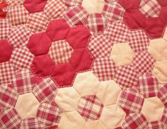 Blanket in the art quilt Grandmothers Flower Garden