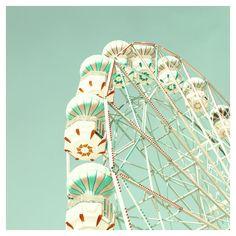Nursery Art, spring decor, Balloon, mint photography, Love Photography , Ferris Wheel, mint, nursery print, nursery nautical, nursery decor ($30) found on Polyvore