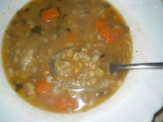 Hŕstková polievka Soups And Stews, Cheeseburger Chowder, Food And Drink, Fit, Ethnic Recipes