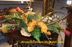 Tropical silk flowers Arangement....  http://anasilkflowers.blogspot.com/