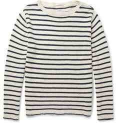 Gant Rugger – Striped Knitted-Cotton Sweater