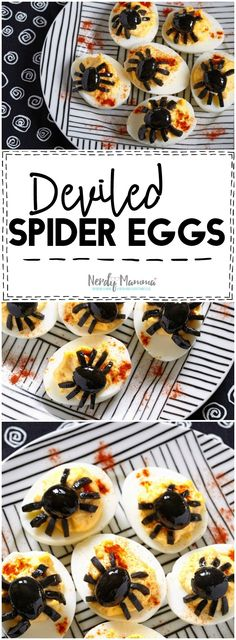 Oh my! What an easy Halloween Party appetizer! I love this simple deviled spider…