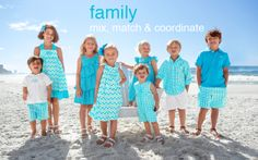 Kelly's Kids-Note Worthy will have a trunk show on February 28th at our Thruway location Beach Picture Outfits, Family Picture Outfits, Matching Family Outfits, Coordinate Outfits, Beach Outfits, Family Beach Portraits, Family Beach Pictures, Beach Photos, Family Pics