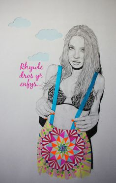 Illustration by: Niki Pilkington Accesories - Accesories jewelry - Accesories bag - Accesories ilust Lips Painting, Neon Painting, Music Painting, Sketch Painting, Woman Illustration, Graphic Design Illustration, My Photo Gallery, Art Gallery, Surreal Art