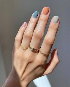 Minimalist Nails, Colorful Nail Designs, Fall Nail Designs, Uñas Color Coral, Colour, Hair And Nails, My Nails, Soft Nails, Nagellack Trends