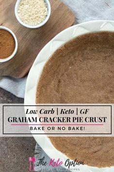 Graham Cracker Pie Recipe, Graham Cracker Crust, Graham Crackers, Diabetic Desserts, Low Carb Desserts, Health Desserts, Dessert Recipes, Sugar Free Deserts, Low Carb Noodles