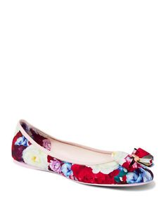 TED BAKER Ted Baker London Floral Ballerina Flats. #tedbaker #shoes #flats