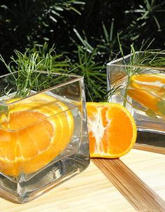 INFUSE     YOUR   WATER​ Tangerine, thyme, and fennel   What you will need: ​ 3 tangerines sliced 2-3 sprigs of of fennel 2-3 sprigs of thyme 1 quart water and Ice   This is a great infused water recipe. I recommend letting this one steep for at least an hour before serving.
