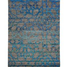 """1800getarug Hand-knotted Sari Silk Colorful Arts And Crafts Oriental Wool Rug (2' x 2') (Exact Size: 7'10"""" x 9'10""""), Silver, Size 8' x 10'"""