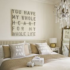 love the wall art, but not the message pillows