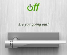 Off Door Handle Concept Turns Everything Off As You Head Out