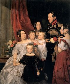 The Gierster Family by  Ferdinand Georg Waldmüller (Austrian 1793–1865)