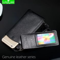 100% Genuine leather phone bag Universal 1.0″~6″ For iphone 4 4s 5 5s 5c SE 6 6s 7 Plus huawei P9 P10 mate9 wallet purse case