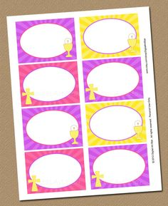 First Communion Buffet Cards Printable Tent by digitalartstar, $6.50