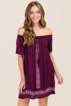 Charlotte Embroidered Shift Dress