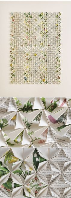 This work is from the paper-folding series, Between the Folds, by Chilean born, London based artist Francisca Prieto.