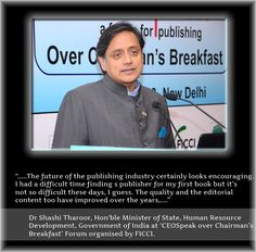 The future of the publishing industry certainly looks encouraging -@ShashiTharoor