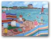"""""""The Colours of Summer, Elie"""" by Jennifer Thomson. Jennifer holds an art exhibition each year in Elie during the summer months.  Check her website (linked via the image) for details."""